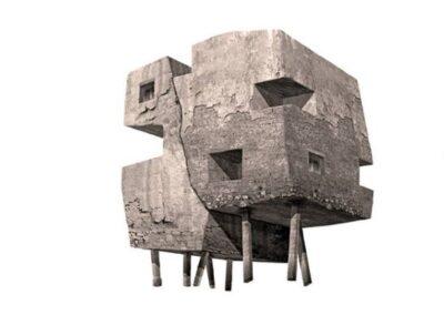 Pequeña Estructura II - 60 x 60 cm