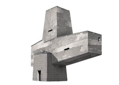 Pequeña Estructura IV - 60 x 60 cm.