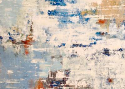Sin Título, 2015. Serie Agua Santa - XVIII - 60 x 30 cm - Acrílico sobre bastidor